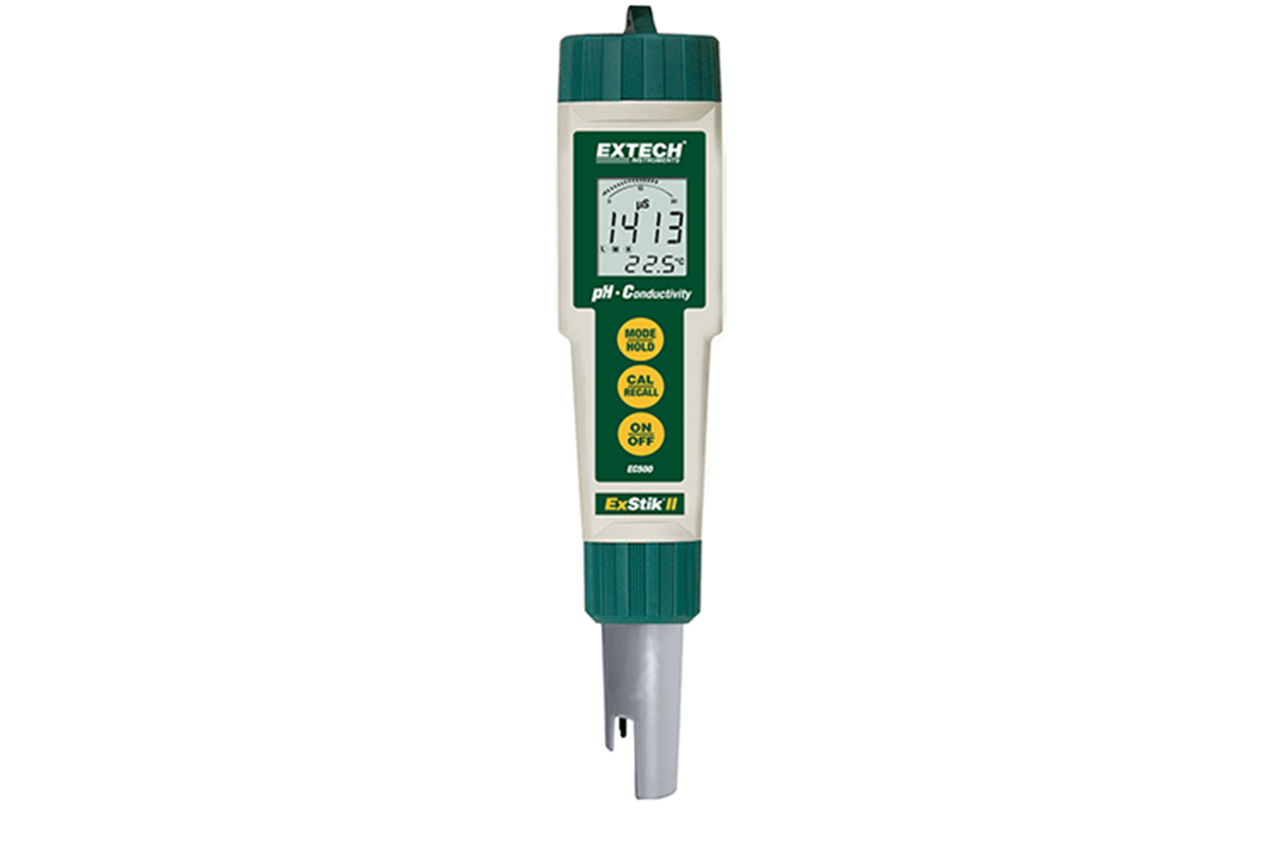Extech Waterproof ExStik II pH/Conductivity Meter