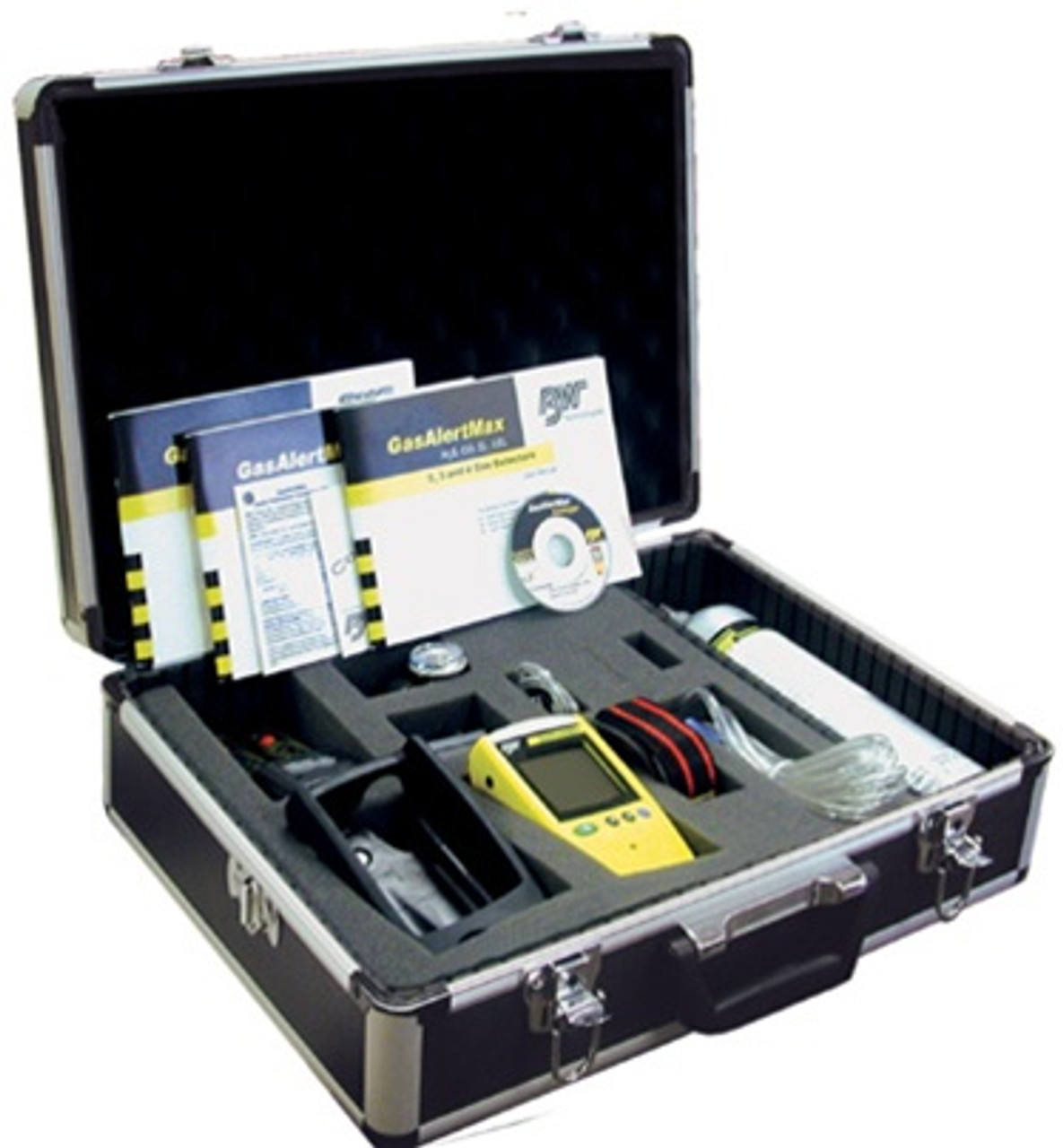 BW GasAlertMax XT II 4-Gas (LEL/O2/CO/H2S) Detector w/ Motorized Pump & Confined Space Calibration Kit