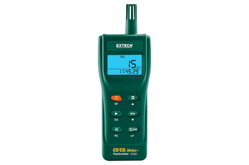 Extech CO260 Portable Indoor Air Quality CO/CO2 Meter/Datalogger