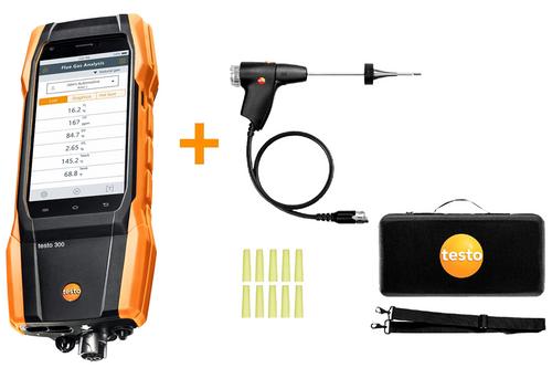 Testo 300 Residential / Commercial Analyzer Kit (O2 & CO installed)  0564 3002 82