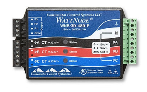 Onset kWh Xducer 480VAC Delta (Pulse out) - T-WNB-3D-480