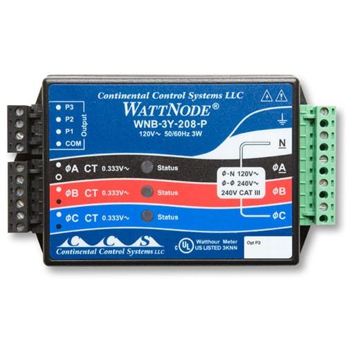 Onset kWh Xducer 208/240VAC Wye (Opt P3) - T-WNB-3Y-208-P
