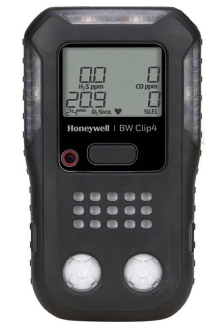 BW Clip4 Multi-Gas Detector - Combustible (%LEL), Oxygen (O2), Hydrogen Sulfide (H2S), Carbon Monoxide (CO) Detector - BWC4-B-N