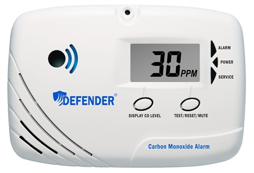 Defender CA6150 10-Year Carbon Monoxide Alarm (with digital display)
