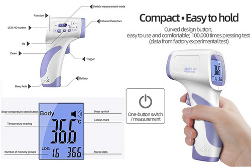 Non-Contact InfraRed Elevated Skin Temperature Thermometer
