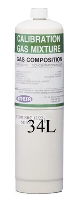 MESA 50 ppm Carbon Monoxide (CO) 34L Single Gas Calibration Gas