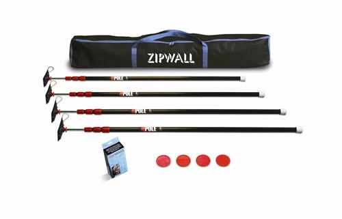 ZipWall ZipPole 10 4 Pack (Case of 4)