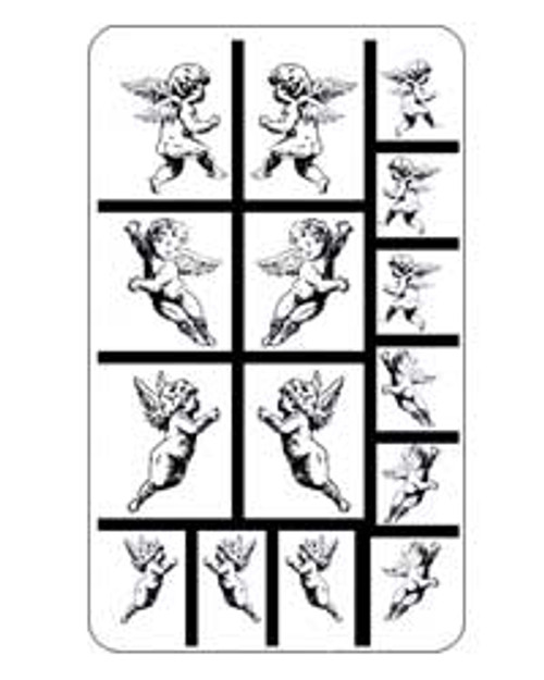 Rub N Etch Angels Stencils 20-0421