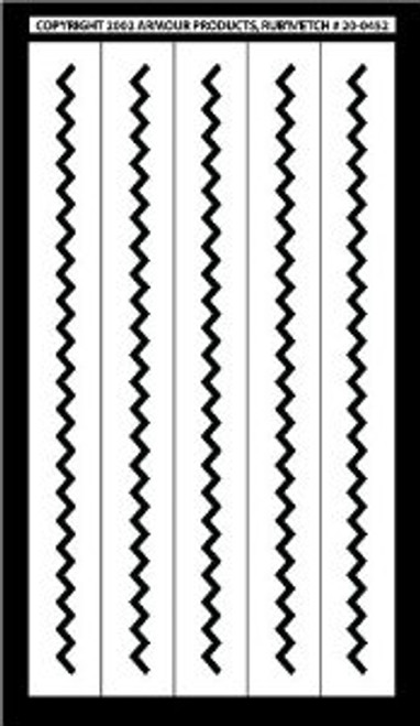 Rub N Etch Zig Zag Borders Stencils 20-0452-Discontinued