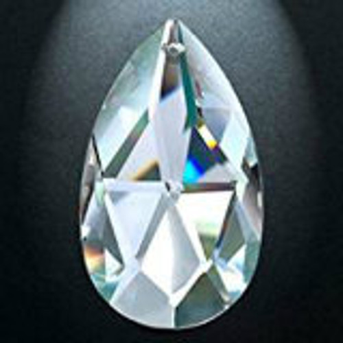Asfour 872 Clear  and AB Peardrop Crystal Prisms-3 sizes