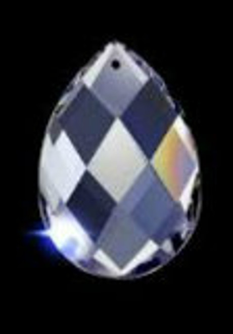 Asfour 874 Clear  Almond Crystal Prisms -2 sizes