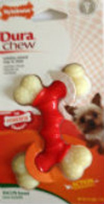 Nylabone Dura Chew Petit Bacon Flavored Double Bone Dog Chew Toy