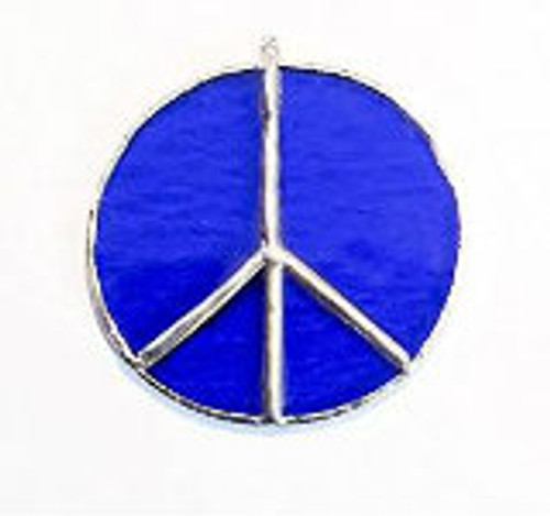 "3"" Stained Glass Peace Sign Sun Catcher"