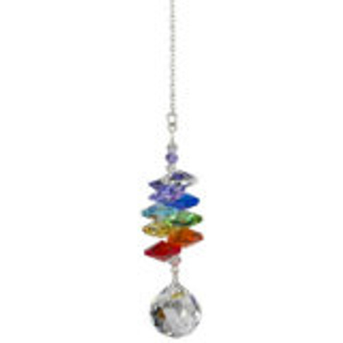 Woodstock Chimes Crystal Rainbow Chakra Cascade- Ball