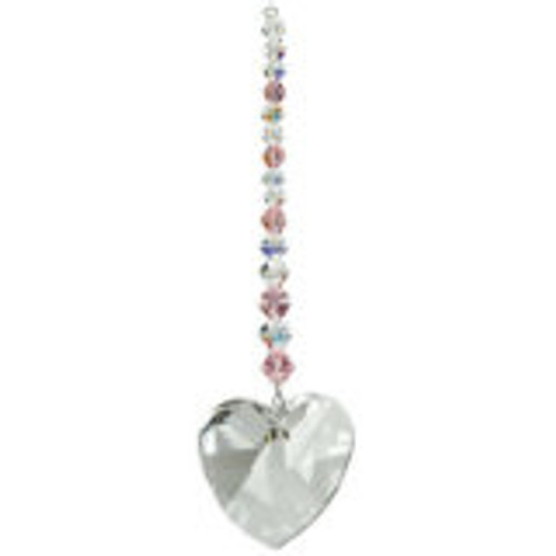 Woodstock Chimes Crystal Daydreams- Pink Heart