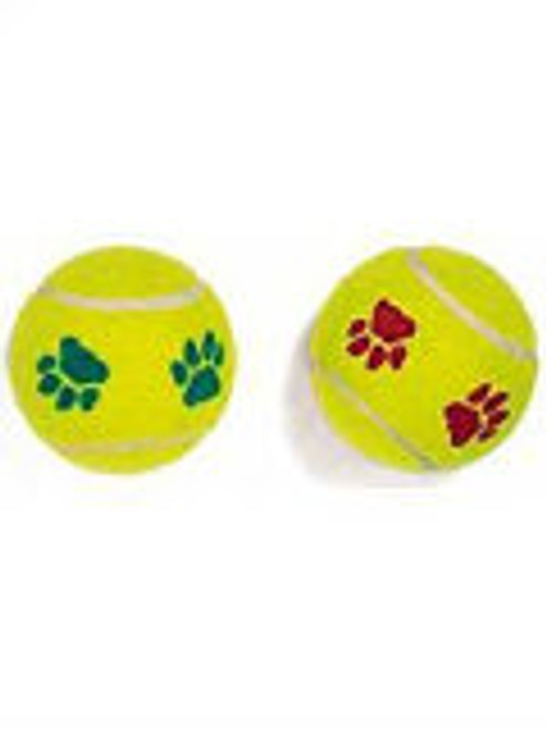 Ethical Mint Flavor Paw print Tennis ball for Dogs, 2-Pack