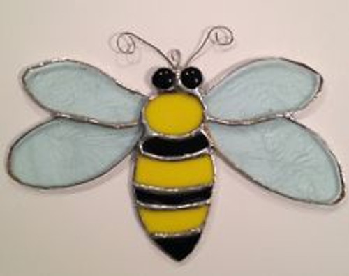 "6"" Stained Glass Bumblebee Sun Catcher"