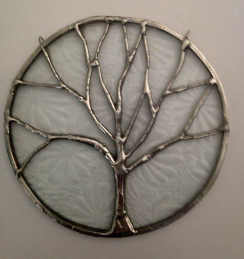 "6"" Stained Glass Tree of Life Sun Catcher"