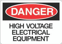 Danger Sign - High Voltage Electrical Equipment