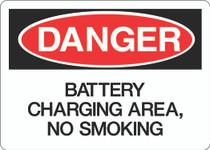 Danger Sign - Battery Charging Area No Smoking