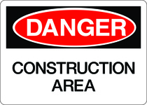 Danger Sign - Construction Area