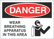 Danger Sign -Wearing Breathing Apparatus