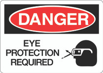 Danger Sign - Eye Protection Required