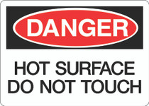 Danger Sign - Hot Surface Do Not Touch