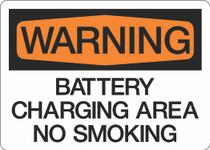 Warning - Battery Charging Area No Smoking