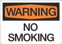 Warning - No Smoking