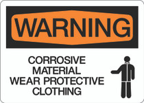 Warning - Corrosive Material Wear Protective Clothing