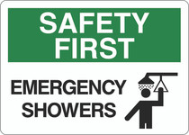 Safety First Sign - Emergency Showers