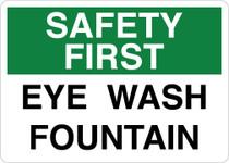 Safety First Sign - Eyewash Fountain V2