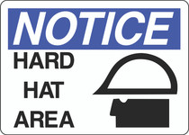Notice Sign -  Hard Hat Area