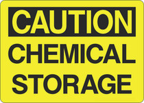 Caution Sign - Chemical Storage