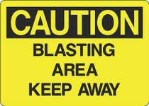 Caution Sign - Blasting Area Keep Away