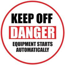 Danger Keep Hands Clear Floor Sign 1