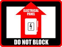 Elec. Panel - Do Not Block Rect.
