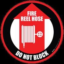 Fire Reel Hose Do Not Block
