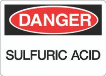 Danger Sign - Sulfuric Acid