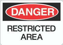 Danger Sign - Restricted Area
