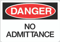 Danger Sign - No Admittance