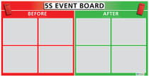 5S Sort Event Boards (Magnetic Dry Erase) 2 feet x 4 feet