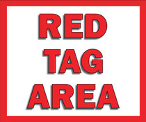 Red Tag Area Sign Hanging Sign V2
