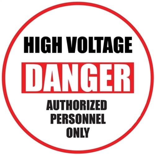 Danger High Voltage Floor Sign