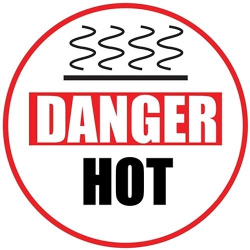 Danger Hot Floor Sign