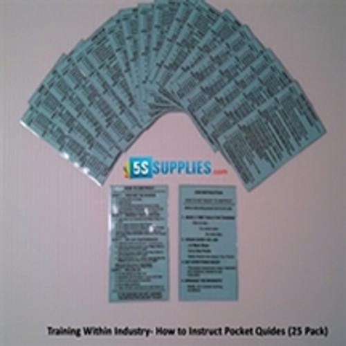 TWI Job Instruction Pocket Cards (20 Pack)