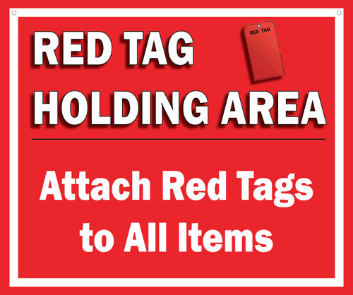 Red Tag Area Sign Hanging Sign V5