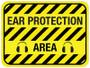Ear Protection Area - Floor Sign