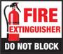 Fire Extinguisher - Do Not Block - Floor Sign